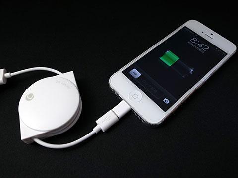 Lightning - Micro USBアダプタの使用例