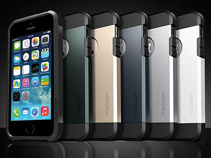 Spigen iPhone 5/5sケース タフ・アーマー エイントリー・グリーン