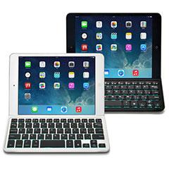iPad mini用 光るワイヤレスキーボード Bookey Light ホワイト&シルバー