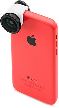 olloclip 3-IN-ONE フォトレンズ for iPhone 5c (Black/White)