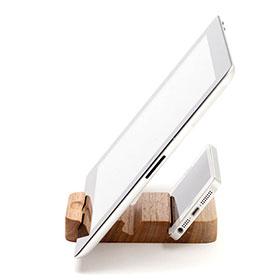 iPadウッドスタンド ST-Pad3列