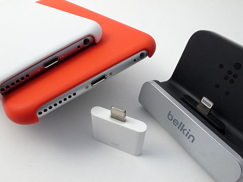 BELKIN Charge + Sync DockとExpress Dock for iPadを、iPhone 6/6 Plusで使う