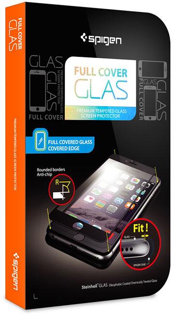 Spigen iPhone 6/6 Plus 全面強化ガラスフィルム 發油加工 Full Coverage