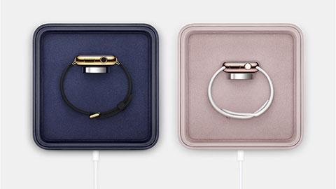 Apple Watch Edition用マグネット式充電ケース(プレミアムレザー充電ボックス)