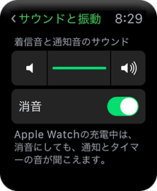 Apple Watch サウンドと振動の設定