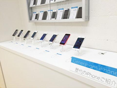 SmartBATON iPhone展示コーナー
