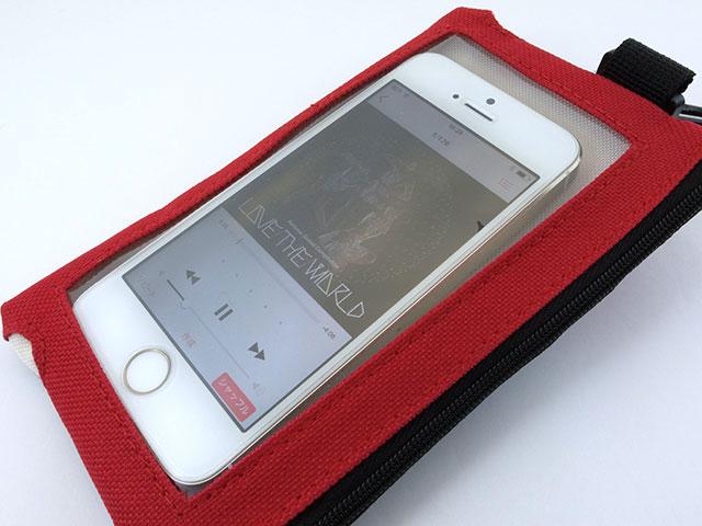 PerfumeスマホポーチにiPhone 5sを収納したところ