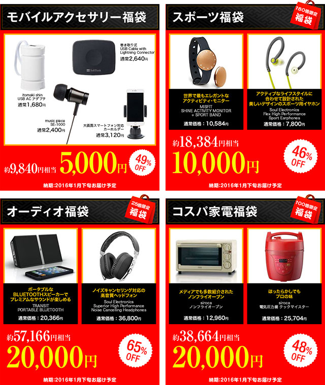 ソフトバンクセレクション 新春初売りキャンペーン幅袋