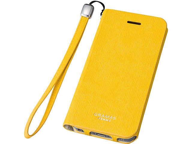 "GRAMAS FEMME ""Colo"" Flap Leather Case FLC226 for iPhone SE / 5s / 5"