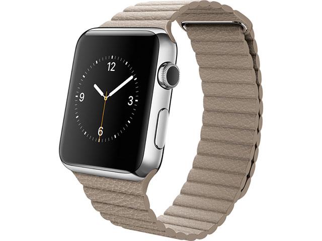 Apple Watch 42mmステンレスケースとストーンレザーループ L
