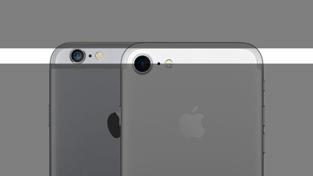 iPhone 7とiPhone 6sのカメラレンズ位置