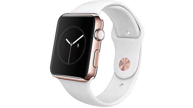 Apple Watch Edition 42mm 18Kローズゴールドケースとホワイトスポーツバンド