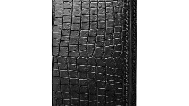 GRAMAS Meister Crocodile Full Leather Case for iPhone 7 Black