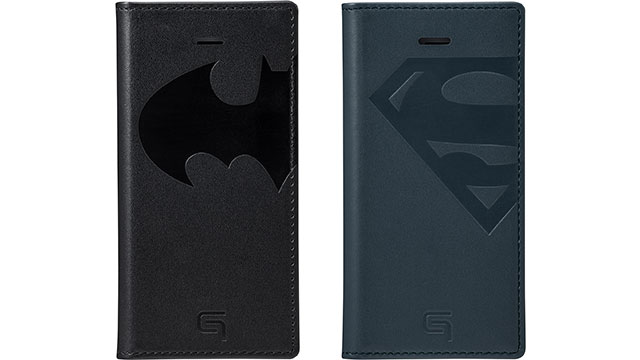 GRAMAS Full Leather Case for iPhone 7 BATMAN SUPERMAN