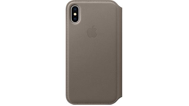 iPhone Xレザーフォリオケース