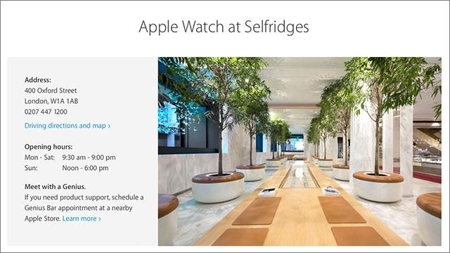 Apple Watch at Selfridges
