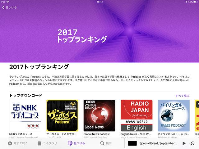 Podcast 2017トップランキング