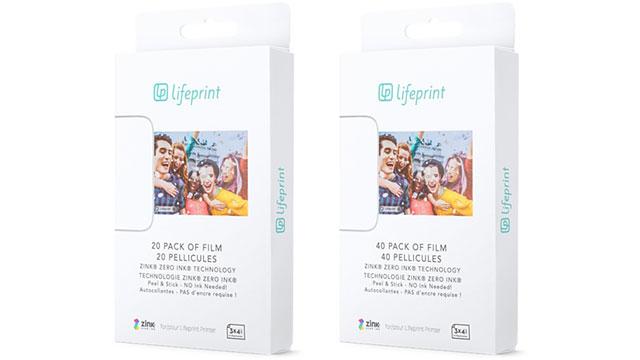 Lifeprint 3x4.5フォトフィルム
