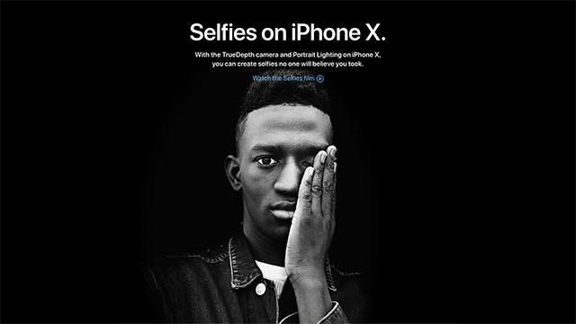 Selfies on iPhone X