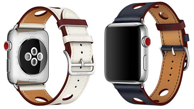 Apple Watch Hermès - 42mmケース用シンプルトゥールラリーレザーストラップ