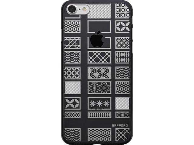 【iPhone 8/7 ケース】SAPPORO+ kiriko エアージャケット ブラック
