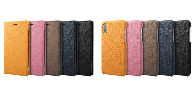 GRAMAS Shrunken-calf Shell/Full Leather Case for iPhone X