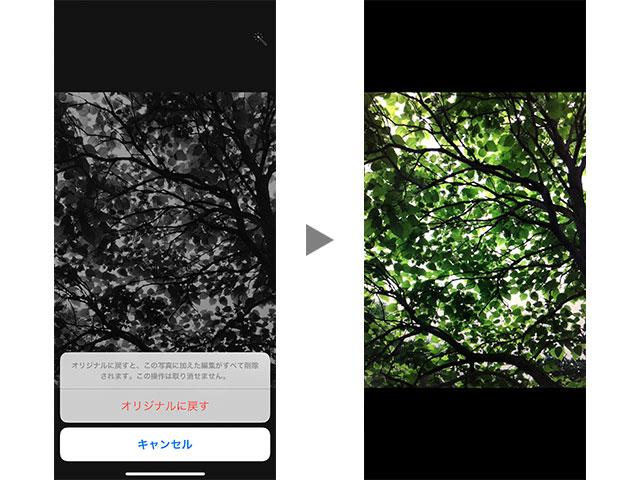 カメラアプリのフィルタ