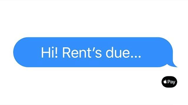Just text them the money — Rent