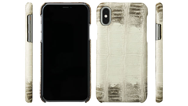GRAMAS Meister Himalayas Crocodile Leather Case for iPhone X