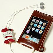 かじりりんご付き♪iPod touch オイルレザーケース/第1・2世代