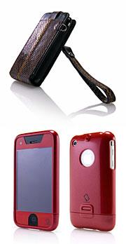 CAPDASE レザーケース (SNAK) /CAPDASE iPhone 3G / 3GS 用 ハードケース
