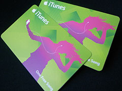 iTunes One Free Songカード