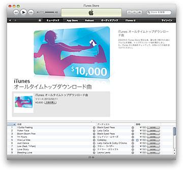 iTunes オールタイムトップダウンロード曲