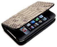 iPhone用パイソンレザーケース(ハードタイプ・横開き)