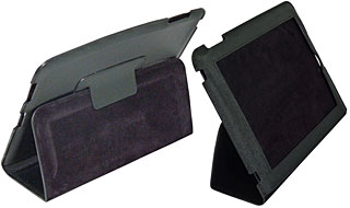 LEATHER CASE FOR iPad (Stand type)(BI-PADFLSTD/BK)