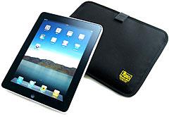 iPad専用薄型キャリングケース/横型コーデュラナイロン製(ブラック)