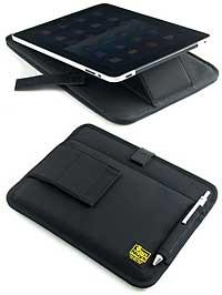 iPad専用液晶保護パット入りスタンド付き薄型キャリングケ-ス
