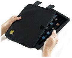 シリコンケースに入れても入るiPad専用キャリングケ-ス