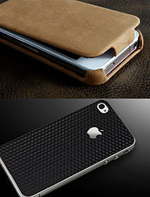 レザーポーチ ビンテージエディション for iPhone4/スキンガード for iPhone4