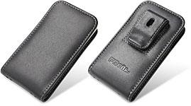 PDAIR レザーケース for iPhone 4 ベルトクリップ付バーティカルポーチタイプ