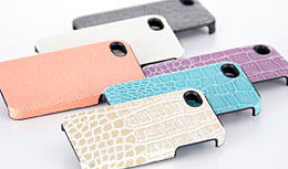 Simplism Leather Cover Set for iPhone 4