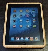 iPad専用 天然素材 ウッディー調竹製ケース