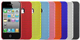 メッシュ カラーシェルケース for iPhone 4