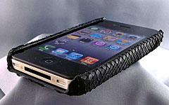 パイソン本革iPhone 4ボディケース