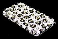 スワロフスキー・クリスタルケース iPhone 4 Snow Leopard