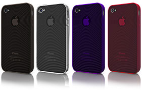 Swirling Series Jelly Case for iPhone 4