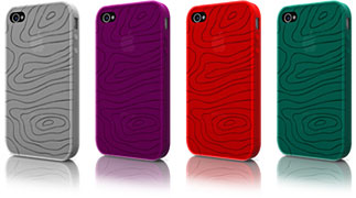 Smooth Silicone Series Silicon Case Wood pattern for iPhone 4