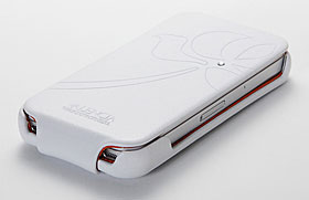 SGP バレンシア レザーケース スワロフスキー for iPhone 4