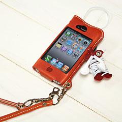 かじりりんご付き♪iPhone 4 オイルレザーケース