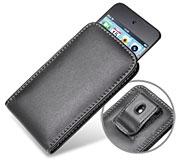 PDAIR レザーケース for iPod touch(4th gen.) ベルトクリップ付バーティカルポーチタイプ